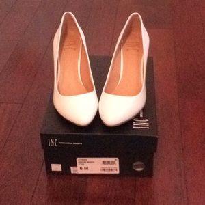 Brand new White INC 21/2 inch high heels.  Worn 1x